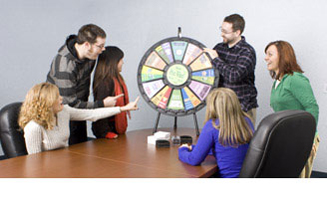 These spinning prize wheels are fun to play and attract a lot of attention at an event.