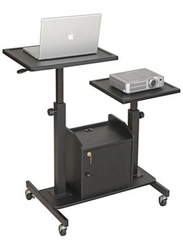 projector cart with adjustable work space