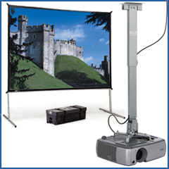 projector mounts and screens