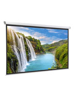 "108"" Motorized Electric Projector Screen with Black Border"