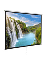 "120"" Wall/Ceiling Retractable Presentation Screen with Manual Pull Down"