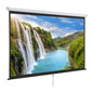 "90"" Wall/Ceiling Retractable Projection Screen with 16:9 Aspect Ratio"