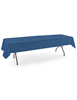Dark blue rectangle tablecloths with polyester material