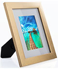 Distressed Gold Picture Frame