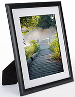 "8.5"" x 11"" Black Picture Frame with Mat"
