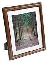 Mat Picture Frame with Brown Wood Grain Finish