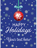 "18"" x 24"" ""Happy Holidays"" retail poster with custom text"