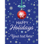 "18"" x 24"" ""Happy Holidays"" retail poster with snowy background"