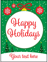 "18"" x 24"" ""Happy Holidays"" Retail Poster with Predesigned Graphics"