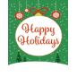 "18"" x 24"" ""Happy Holidays"" Retail Poster with Snow Background"