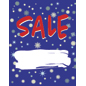 "Customizable 18"" x 24"" ""Winter Sale"" Window Banner"