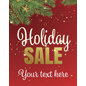 "18"" x 24"" ""Holiday Sale"" Shop Window Sign with Evergreen Graphics"