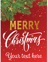 "18"" x 24"" ""Merry Christmas"" retail poster with stock artwork"