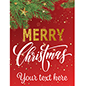 "18"" x 24"" ""Merry Christmas"" retail poster for promotions"