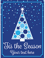 "18"" x 24"" 'Tis the Season"" holiday poster with high quality graphics"