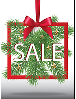 Christmas sale window display sign portrait orientation