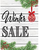"18"" x 24"" store ""Winter Sale"" poster portrait orientation"