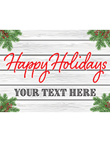 Happy Holidays window display poster landscape orientation