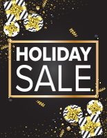 18 x 24 holiday store poster signs