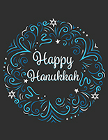 "18"" x 24"" retail ""Happy Hanukkah"" poster with stock graphics"