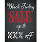 Store window Black Friday poster with trendy design