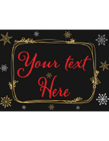 Customized chalkboard window holiday poster on photo paper