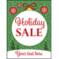 "18"" x 24"" ""Holiday Sale"" window poster with satin finish"
