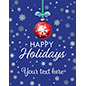 "22"" x 28"" ""Happy Holidays"" retail shop poster with custom text"