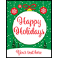 "22"" x 28"" ""Happy Holidays"" trendy retail poster for seasonal promotions"