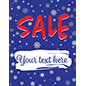 "22"" x 28"" winter Sale window sign for retail stores"