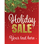 "22"" x 28"" ""Holiday Sale"" trendy window sign for seasonal advertising"