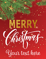 "22"" x 28"" ""Merry Christmas"" modern retail poster with elegant text"