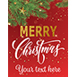 "Customizable 22"" x 28"" ""Merry Christmas"" modern retail poster"