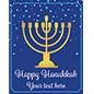 "22"" x 28"" ""Happy Hanukkah"" window sign with custom text"