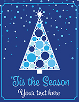 "22"" x 28"" ""Tis the Season"" window sign with festive christmas tree design"