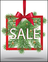 Fun Christmas Sale store window poster with satin finish