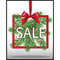 Fun Christmas Sale store window poster for seasonal advertising