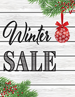 Winter Sale poster with satin finish