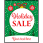 "22"" x 28"" trendy ""Holiday Sale"" window poster with seasonal theme"