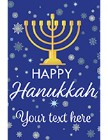 "24"" x 36"" ""Happy Hanukkah"" poster with seasonal theme"