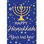"24"" x 36"" ""Happy Hanukkah"" poster with gold menorah"