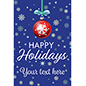"24"" x 36"" ""Happy Holidays"" poster with deep blue background"
