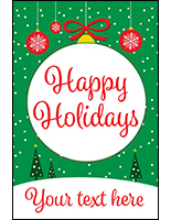 Happy holidays store display poster with customization