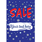 "24"" x 36"" ""Winter Sale"" window sign for commercial shops"
