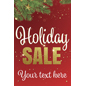 "24"" x 36"" trendy holiday window sign with personalized text area"