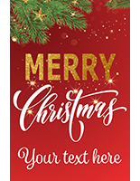 "24"" x 36"" ""Merry Christmas"" shop window poster with festive red theme"