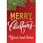 "24"" x 36"" ""Merry Christmas"" shop window poster for holiday advertising"