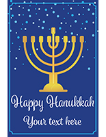 "24"" x 36"" ""Happy Hanukkah"" window sign with seasonal messaging"