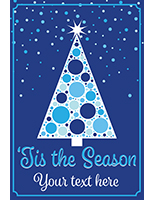 "24"" x 36"" ""Tis the Season"" retail sign with christmas tree theme"