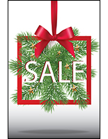 Christmas season retail sign for sale in portrait orientation